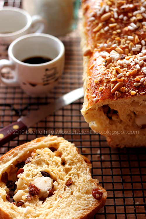 Sweet Bread with Marzipan, Raisins and Nuts