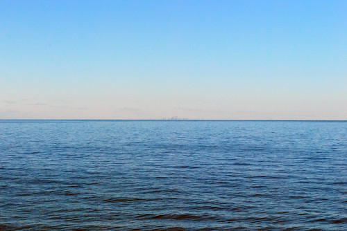 Toronto far away across Lake Ontario