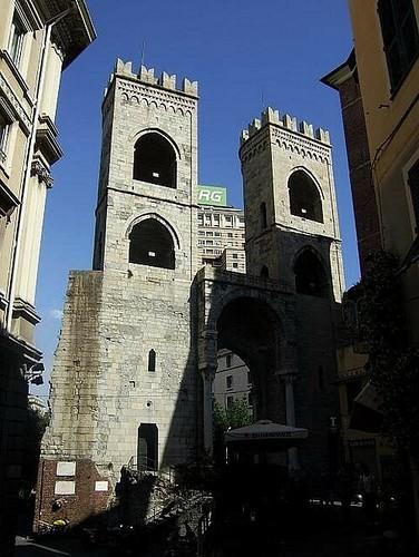 Porta Soprana in Genoa, Italy