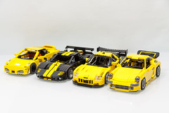 OLD but GOLD - LEGO Sports Cars #1 (Malte Dorowski) Tags: lego speed racer champions creator modelteam ferrari f430 ford gt ruf ctr yellowbird gt2 corvette c6r