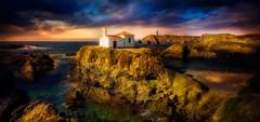 Nosa Señora do Mar (Juan Figueirido) Tags: nosaseñoradomar virxedoporto valdoviño playadeafrouxeira meirás nosaseñoradoporto galicia mar landscape galiciaturismo sunset puestadesol spain españa
