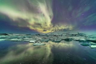 'Lagoon Lights' - Jokulsarlon, Iceland