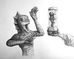 The Urn (Marcos Telias) Tags: hands hand reptile artist art ilustración illustration sketch dibujo drawing boceto bosquejo arte artista ballpoint bolígrafo pen lápiz fantasy