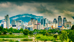Yuseong, Daejeon, Korea (Baburam Bhattarai) Tags: urban city daejeon korea nature landscape green sky clouds water building skyscrapper daylight