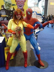 NYCC 09 Firestar and Spider-Man (amber-the-stylist) Tags: comics jones costume women cosplay spiderman xmen superhero marvel comiccon angelica mutants firestar javits nycc amazingfriends misslion mslion