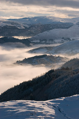 Misty Valleys (Nick Landells) Tags: uk england mist snow fog freezingfog lakedistrict barf cumbria inversion inthemood temperatureinversion d80 cloudinversion nikkor70300mmvr