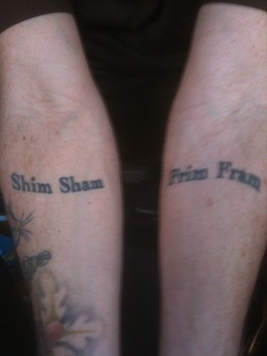 Shim Sham and Frim Fram Tats