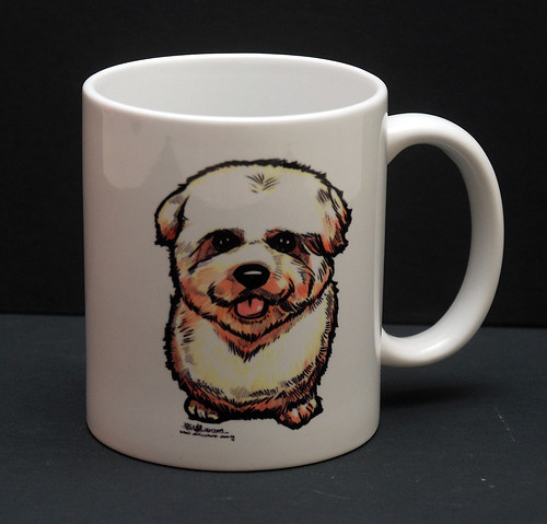 dog caricature on mug - 1