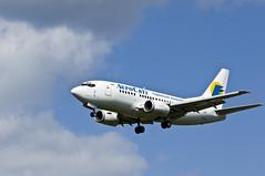 Boeing 737 der ukrainischen Fluggesellschaft A...
