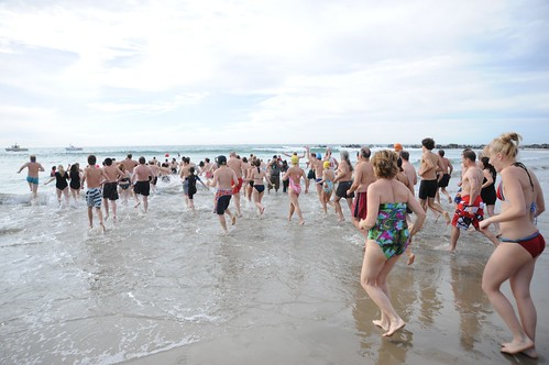 Venice Beach Penguin Club New Year's Day Swim