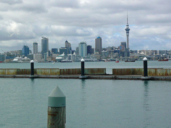 view of downtown Auckland off the back of Karma
