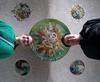 Mosaic Ceiling Selfer (Heraldk) Tags: barcelona spain mosaic parcgüell parkgüell antonigaudí selfer