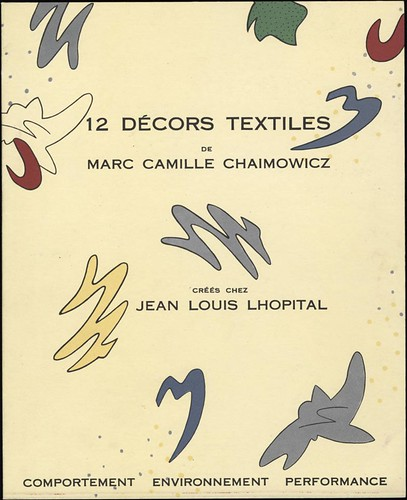 12 décors textiles by Marc Camille Chaimowicz, 1983