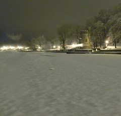 Appley Beach in the snow (naturenet.net) Tags: snow tower beach night wight iow ryde appley