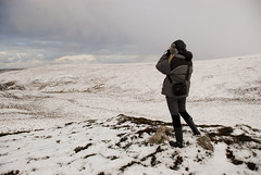 Strathy_Scotland_106 (jjay69) Tags: christmas uk winter england snow cold scotland highlands frost view boots britain freezing binoculars wellingtonboots sutherland rockfish enjoyingtheview warmclothes furhat downjacket strathy northernscotland womanwithbinoculars