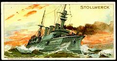 Stollwerck - German Warships 2 (cigcardpix) Tags: vintage advertising chocolate ephemera warships tradecards kaiserlichemarine willystöwer groserkreuzer smsvictorialouise smsviktorialuise