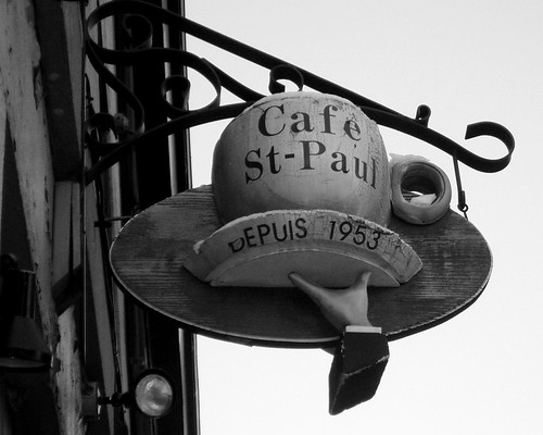 Cafe St-Paul BW