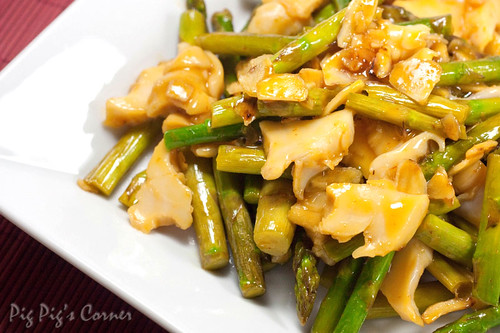 asparagus topshell stir fry 2