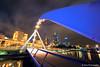 Melbourne :: Southgate Footbridge (-yury-) Tags: longexposure bridge night canon reflections river cityscape footbridge australia melbourne victoria yarra 5d vic southgate supershot