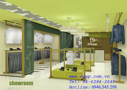 Phong cách thiết kế cửa hàng
