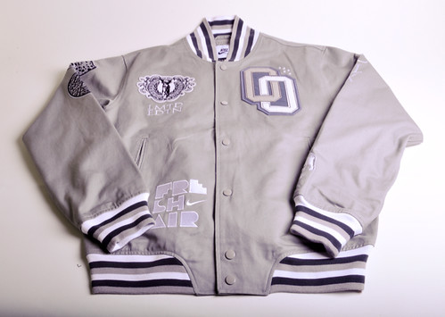 0a5f88fe471 Nike Sportswear presents 2010 Limited Edition Twill Varsity Jackets in Grey  Noice