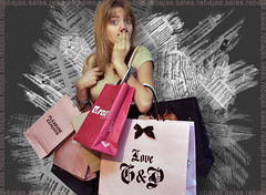 [09-365] Shopping addicted!! (Beatriz AG) Tags: pinguinos photoshop project shopping 09 addicted 365 abercrombie juicycouture roxy shopaholic compras proyecto peridico adicta