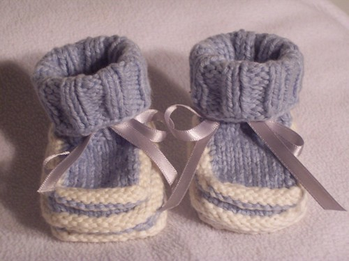 Norse-Borgen multi-colored ridge Baby Booties (Boy's)