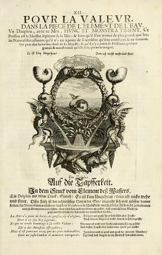 015-- Divisa del tapiz el agua para el valo-Tapisseries du roy, ou sont representez les quatre elemens 1690- Sebastien Le Clercr