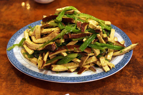 dried bean curd with chinese celery