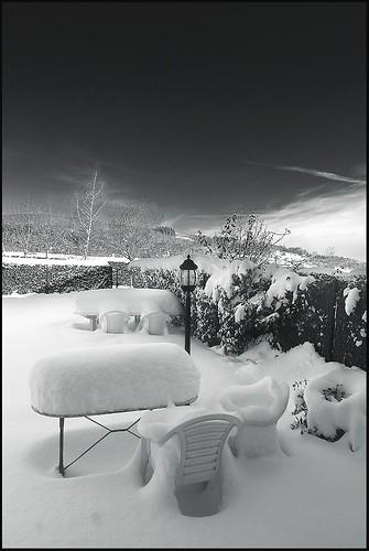 Mesa para una cena fria
