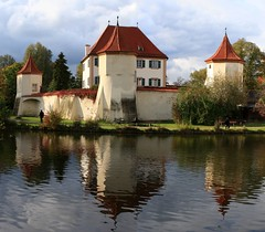 Stitched photo of Blutenburg Castle near Munich