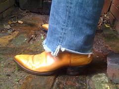 IMG_0194 (PadlockBear) Tags: leather austin hall cowboy toe boots designer mens pointed