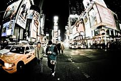 NYC (shaymurphy) Tags: street new york city nyc newyorkcity people ny yellow night america square lights américa cab taxi fisheye times amerika stad アメリカ 美国 미국 纽约 америка lamerica lamérique nikkor105 πόλη nikond300 τησ ニューヨークシティ αμερική 뉴욕시 νέασ υόρκησ