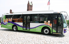 a Charm City Circulator bus (by: Charm City Circulator)