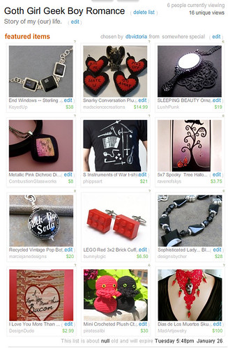 Goth Girl Geek Boy Treasury