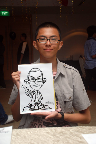 caricature live sketching for birthday party 220110 - 17