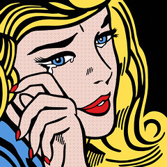 [ crying ] (@jessewright) Tags: roy girl photoshop crying halftone 1964 lichtenstein 2010 jessewright
