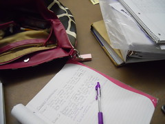 My Desk (ImSoNotGonnaFinish) Tags: pen project purple desk purse math giraffe outsiders homework graphing nazareth hinds