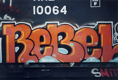 Rebel SC (The Egg Man) Tags: new york city nyc art sc car train writing rebel graffiti garbage artist style crew freight chiefs krl