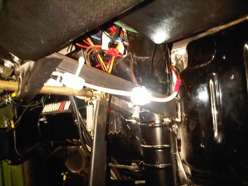Under dash LEDs.