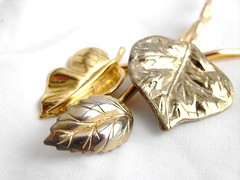 Golden Leaves 3pc Hair pin set