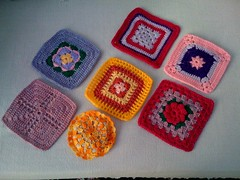 Kimbles at Home sends me a gift. Lavender sachet  with her gorgeous squares. Thank you Kimbles!