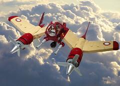 V-22 Phoenix 01 (JonHall18) Tags: plane fighter lego aircraft fantasy scifi moc skyfi dieselpunk dieselpulp