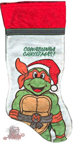"International Silver Company :: ""Teenage Mutant Ninja Turtles""  - 'COWABUNGA CHRISTMAS ! '  (( 1990 ))"