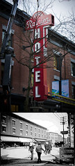 Rainier then and now (laniwurm) Tags: vancouver neonsign thenandnow carrallstreet rainierhotel