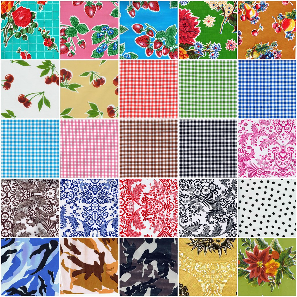 Chalkydoodles Oilcloth Pattern Choices - February 2010