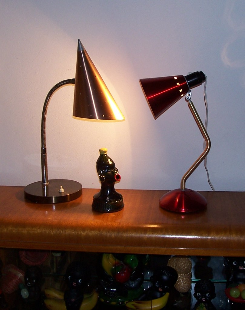 Anodised desk lamps