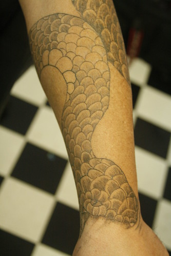 Detailed Snake Tattoo