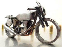 Matchless G50 race bike motorcycle sculpture