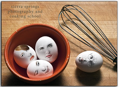 She thought she would whip up a little somethin' somethin' with her family. (Sierra Springs Photography) Tags: food photoshop faces bowl eggs whisk 2010 egges pocketwizards sierraspringsphotography karenschmautz